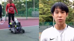 华裔高中生设计网球机器人助青少年打网球