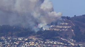 南旧金山地标被烧 附近居民紧急撤离
