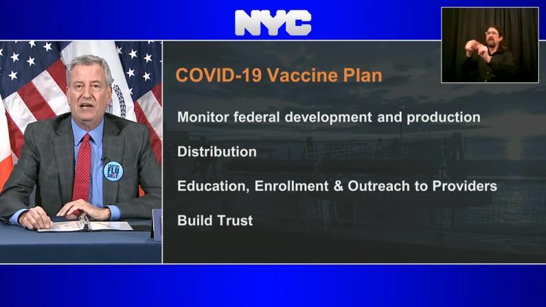 纽约市疫苗两步走计划:优先供应一线抗疫人员