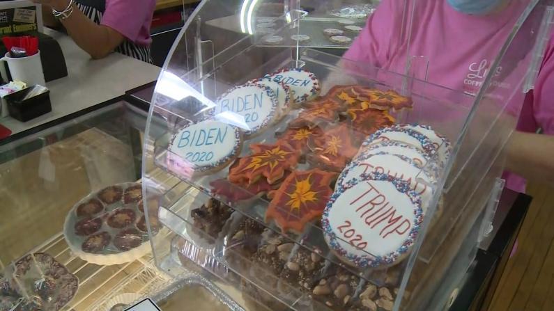 """肯塔基咖啡店成""""非官方投票站"""" """"拜登饼干""""VS""""川普饼干""""哪款更受欢迎?"""