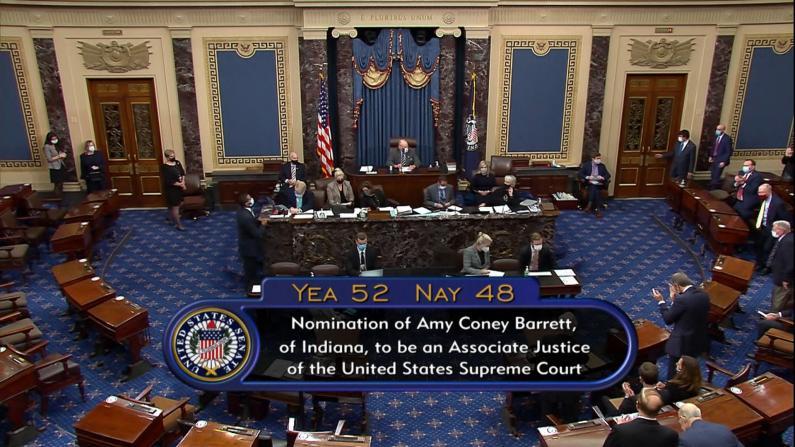 【实录】参议院正式通过巴雷特最高法院大法官提名