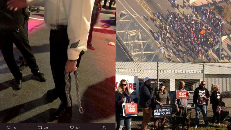 计票未结束 全美多地继续爆发游行示威