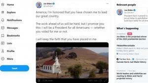 拜登推特发布视频:做所有美国人的总统