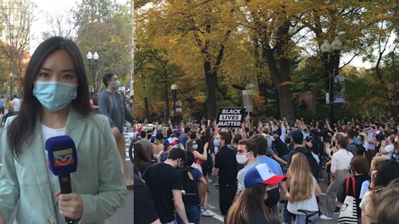 【实拍】波士顿数千人集会庆祝拜登胜选