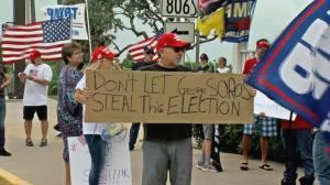 佛州棕榈滩川普支持者抗议拜登胜选:停止窃取我们的选举