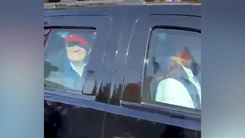 万人华盛顿特区无口罩挺川游行 川普途经现场挥手致意