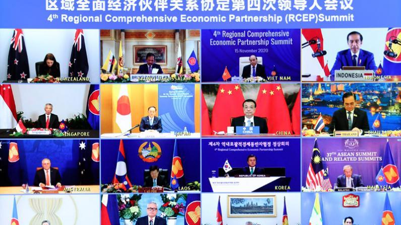 中国等15国正式签署RCEP 开放水平超WTO