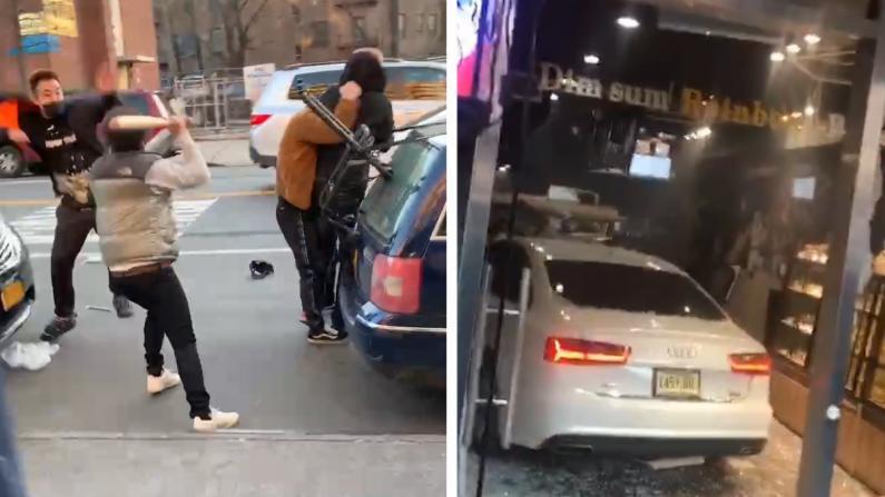 疑因争车位 纽约华人驾车失控 冲进面包房致5人伤