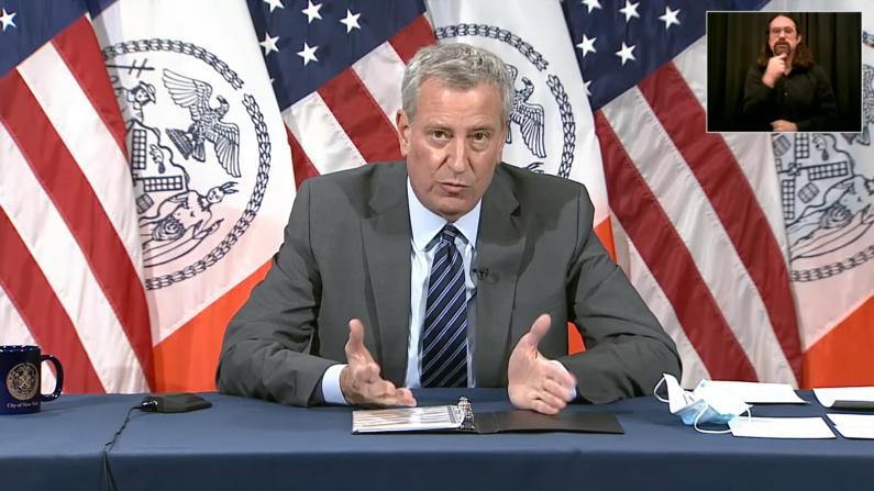 【现场】纽约市府宣布公校关闭改上网课 重开不会早于这一天