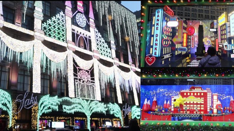 """曼哈顿节日灯光秀 """"今年节日 让我们保持距离"""""""