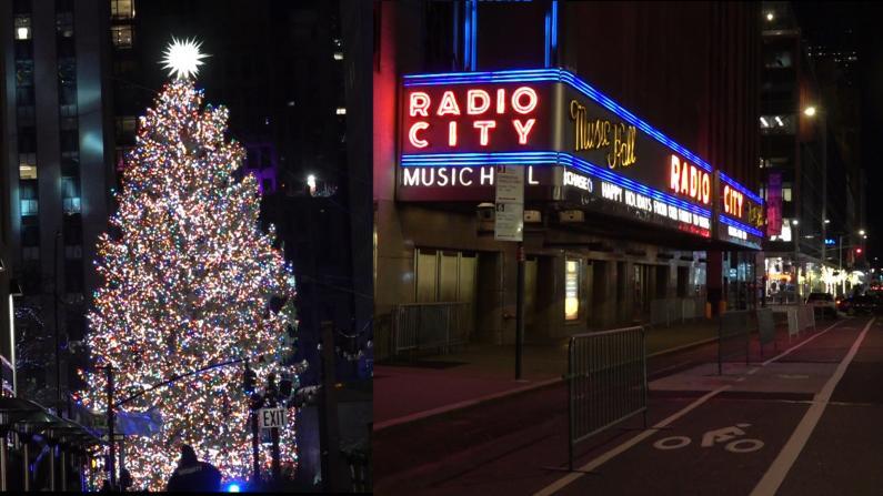 【现场】疫情下的纽约最大圣诞树点灯夜 和往年太不同...