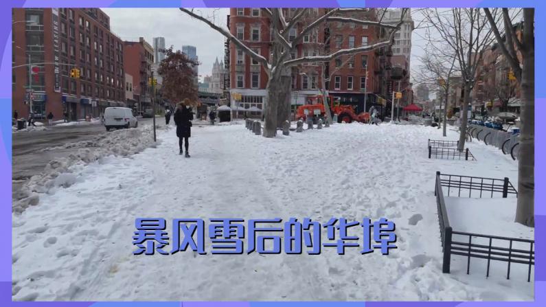 【看见幸福】实拍暴雪后的纽约华埠 依然满地是雪