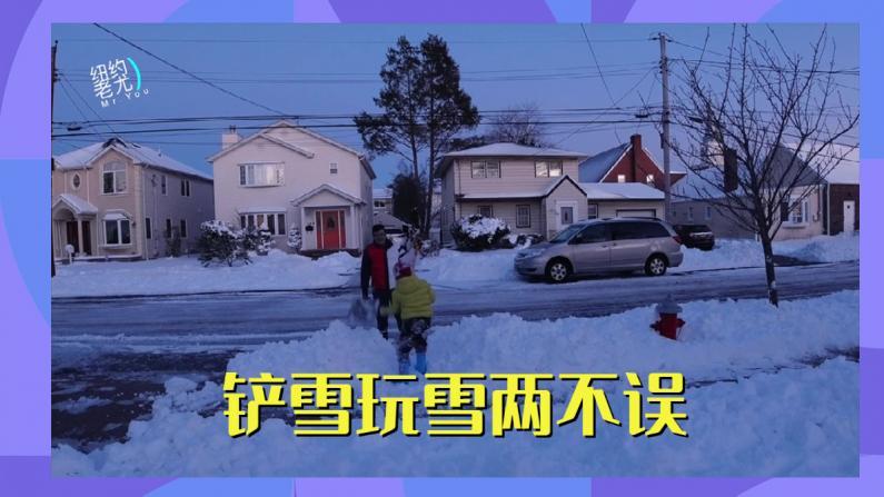 【纽约老尤】暴雪带来的劳动和娱乐 苦中作乐也不错!