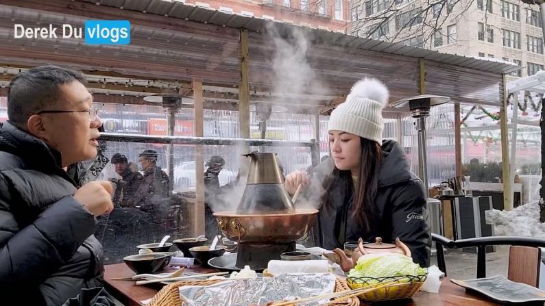 【Derek在纽约】天冷又禁堂食 还能去哪吃?当然是户外涮羊肉!