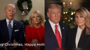 拜登川普分别发表圣诞贺词 风格再次截然不同