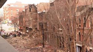 纳什维尔爆炸现场曝光:一片狼藉宛如战后废墟