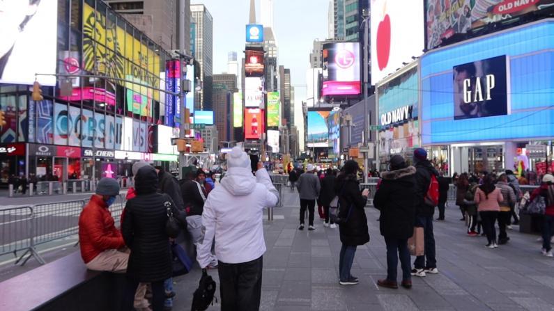跨年庆典114年来首次改线上 纽约时报广场游客不及往年