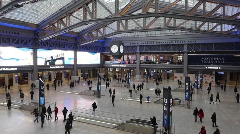 """纽约宾州车站新大厅元旦开放 """"仿佛旅游到欧洲"""""""