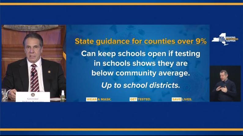 阳性率到多少公校就要关?纽约州修改关校标准
