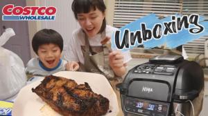 【沛莉一家】开箱Costco买的牛排神器!智能气炸烧烤锅能做出好牛排吗?