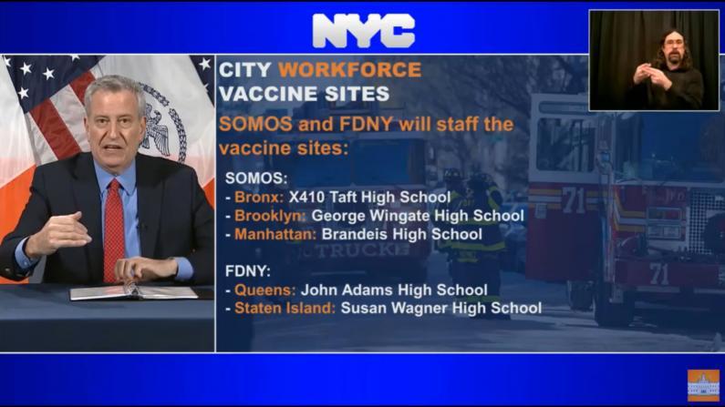 着眼下一步 纽约市将再开5个疫苗注射点