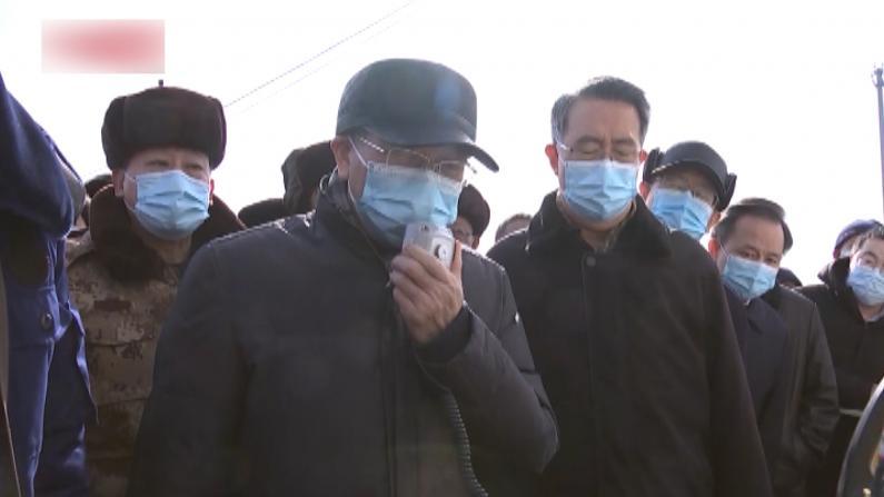 【现场】山东省委书记喊话金矿爆炸事故被困工人