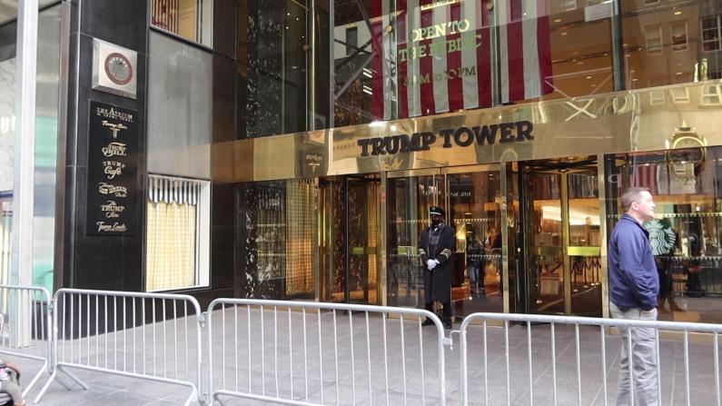 就职典礼前纽约市游行引冲突 市政厅加强防卫 川普大厦严密警卫