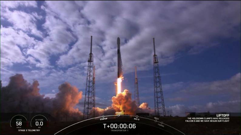 2021开门红!SpaceX成功发射143颗卫星升空破纪录