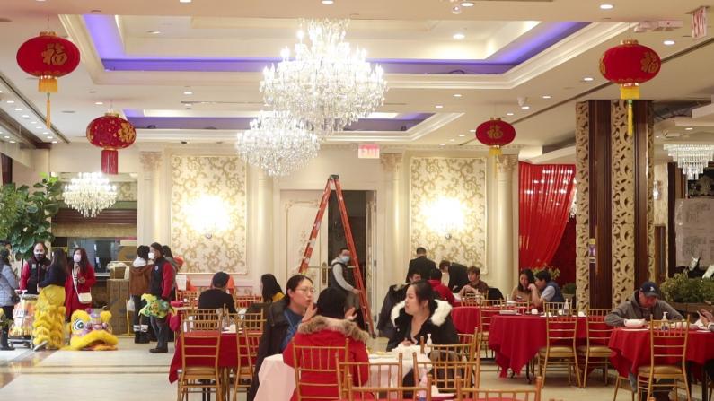 纽约市室内用餐第一天恰逢大年初一 法拉盛餐饮业火爆