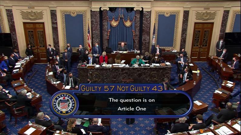 国会参院57-43宣告川普无罪 投票前经历两重反转