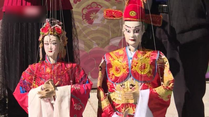 福建建宁提线木偶拜年 香港年轻人穿汉服庆新春