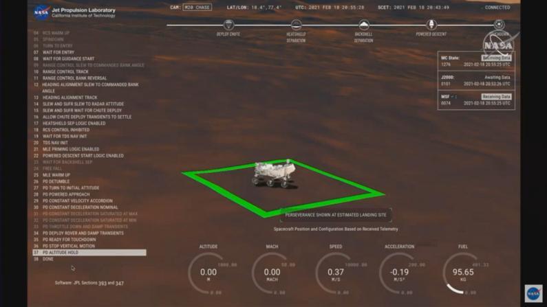 """【实录】""""毅力号""""成功着陆火星 NASA实验室爆发欢呼"""