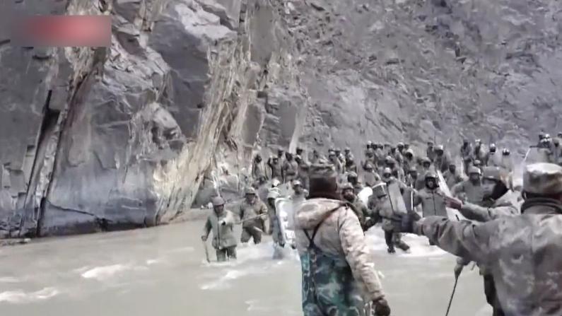 中印加勒万河谷冲突现场视频公开