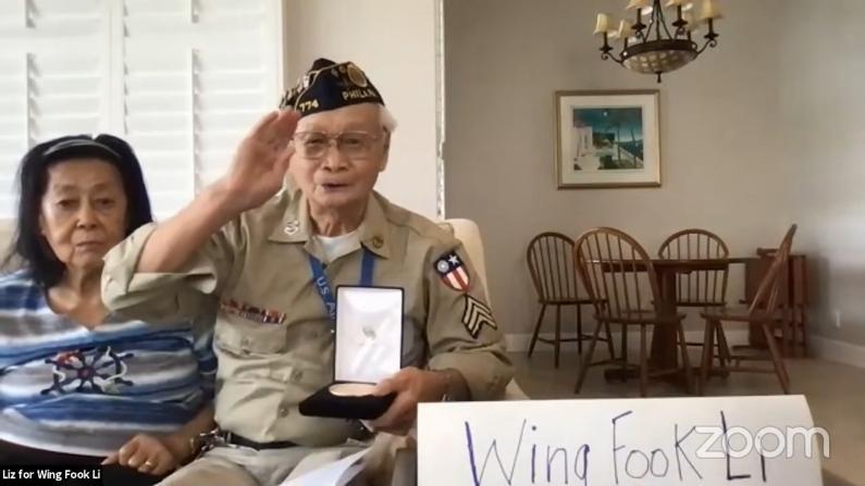认可华裔贡献 纽约12名华裔二战老兵获颁国会金质奖章