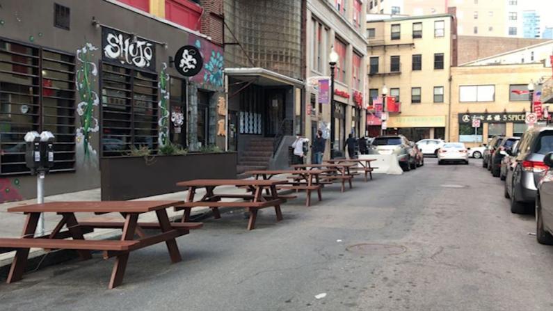 波士顿4/1恢复户外用餐鼓励店家申请 华埠餐馆为何不积极?