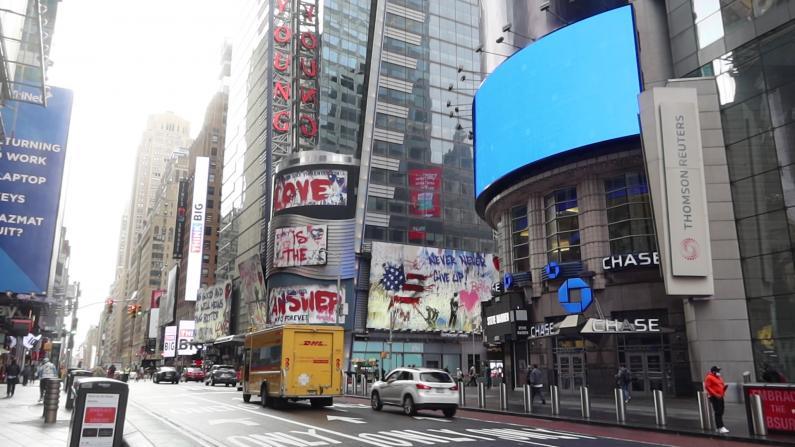 疫情一周年世界的十字路口:纽约时报广场怎么样了?