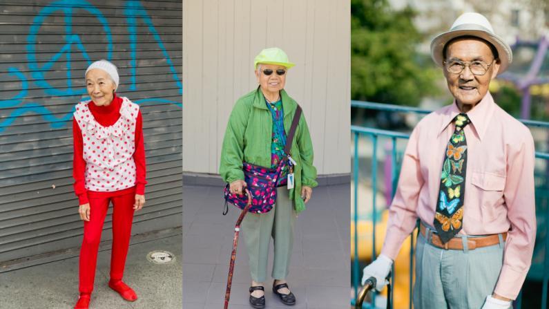 老人可以很时尚 华裔女孩用7年时间记录中国城潮人