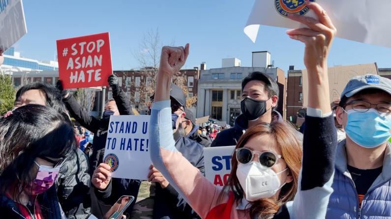 500人纽约长岛集会 抗议针对亚裔仇恨犯罪