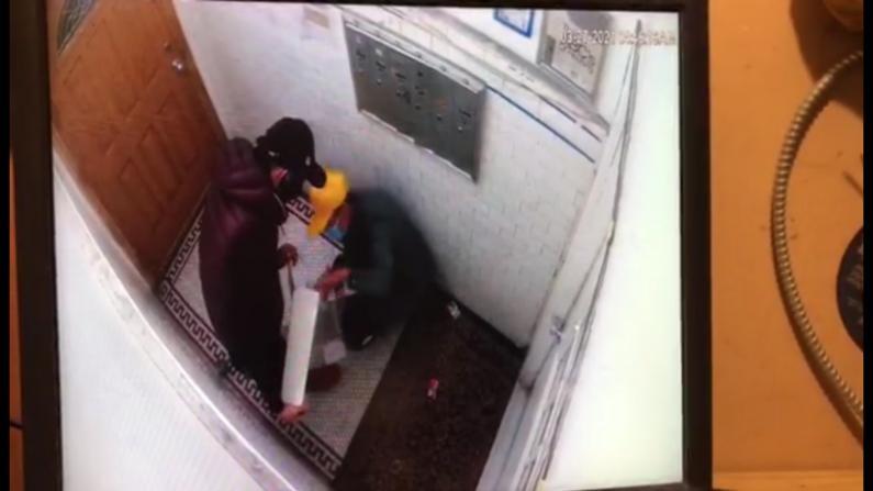 【监控】纽约布鲁克林八大道大楼遭窃 嫌犯撬开所有信箱
