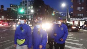 夜巡纽约法拉盛 全美华人捐钱捐物保卫华人圈