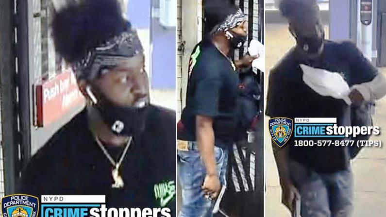 【监控】纽约曼哈顿华埠地铁站内 男子当场掏枪挥舞