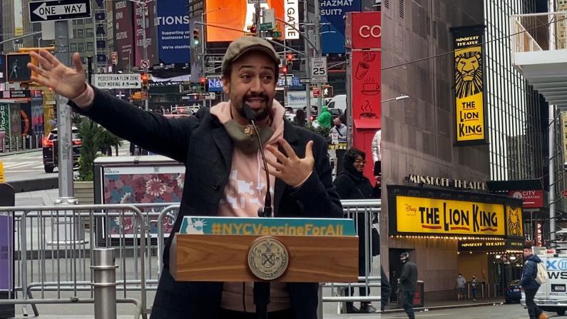 """纽约百老汇现文艺界""""专属""""疫苗站 艺术家、观众:等不及演出回归了!"""