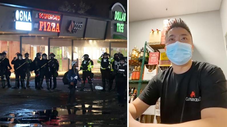 明州打砸抢重灾区华人业主:有害怕希望尽快恢复正常