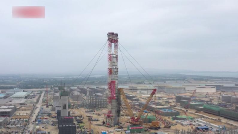 4606吨!亚洲最重塔器在广东揭阳吊装成功