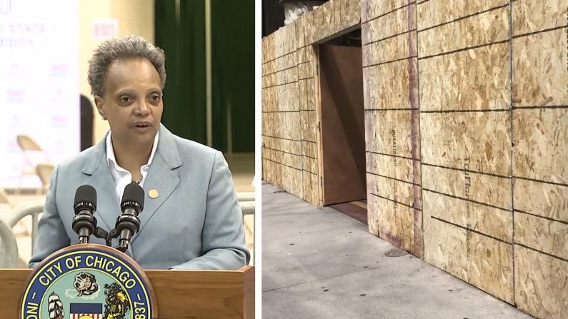 【实拍】芝加哥市中心再次装上木板防骚乱