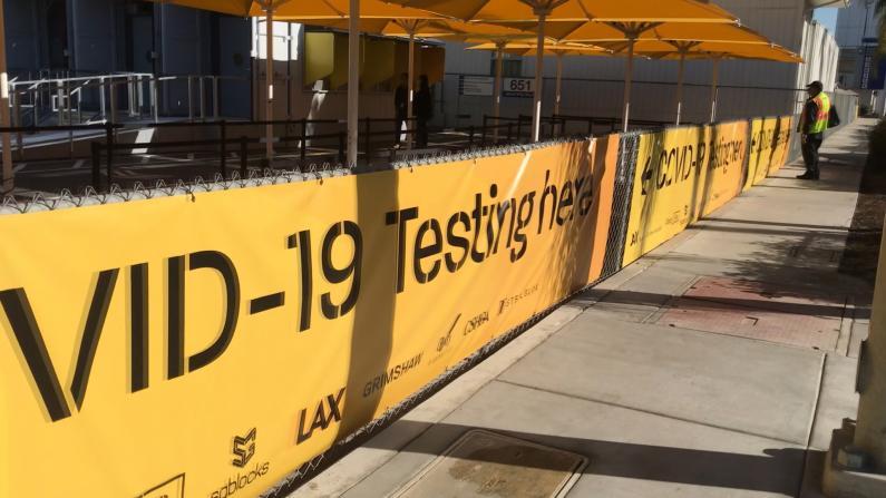 一小时内出结果 LAX旅客可快速做核酸检测