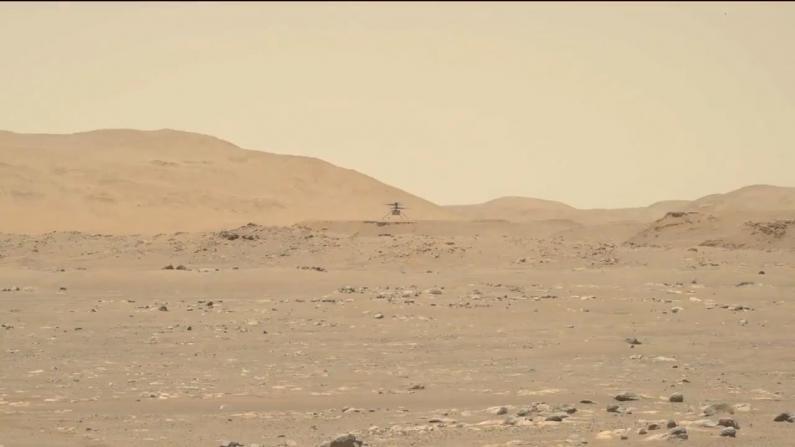 NASA火星直升机第三次飞行成功 距离更远 速度更快