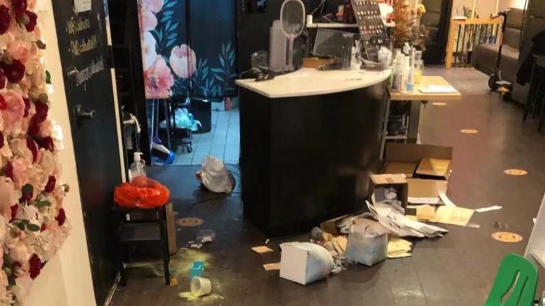 垃圾起火 店面被砸 法拉盛治安变差?华人商家促加强执法