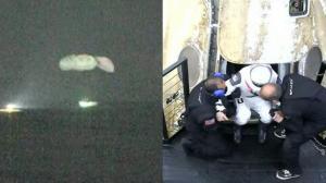 """结束167天创纪录旅程 SpaceX""""龙""""飞船载4名太空人返回地面"""