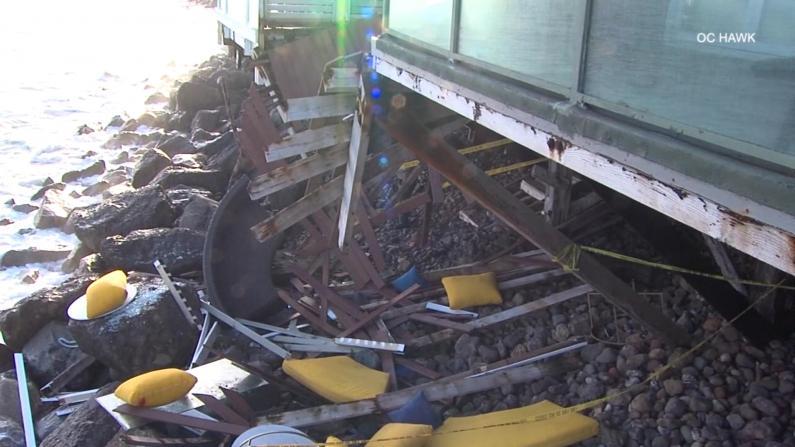 加州海景阳台突然坍塌致九伤 事故原因竟是...